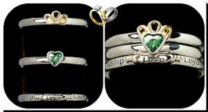 необычные парные свадебные кольца Гиммель
