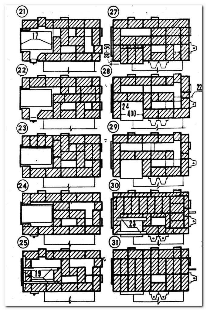 схема порядовка печь камин на дачу