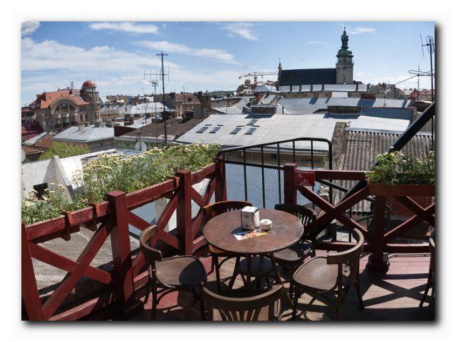 кафе на крыше Львов