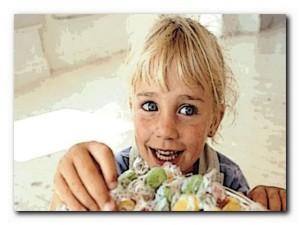 ребенок любит сладости