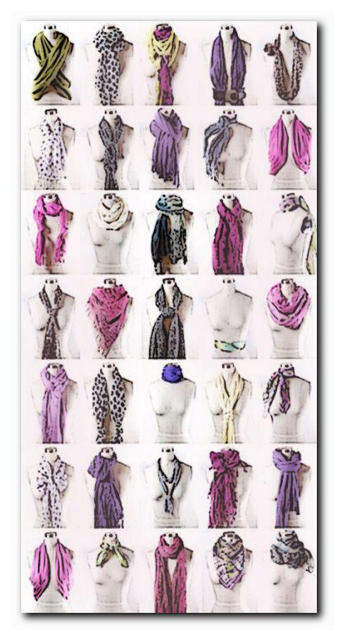 как красиво завязать легкий шарфик