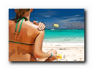 защитить кожу на пляже