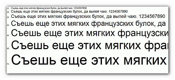 компьютер и зрение размер шрифта