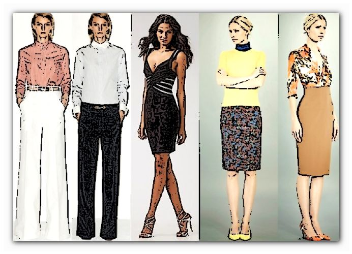 одежда высоким и худым